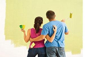 Окраска неровных стен